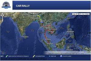 ASEAN India Car Rally Map